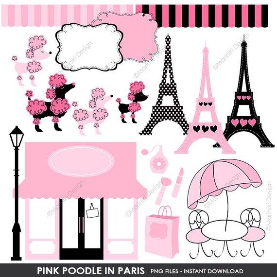 Ooh clipart svg download Pink Poodle in Paris Clip Art, Boutique Store Front Clipart ... svg download
