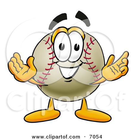 Open baseball cover clipart clip art download 7054-Clipart-Picture-Of-A-Baseball-Mascot-Cartoon-Character-With ... clip art download