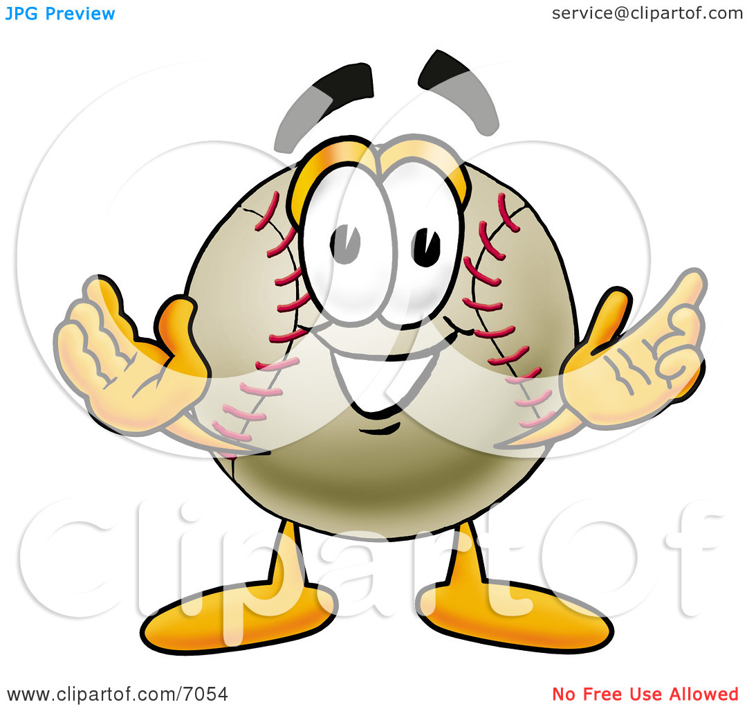 Open baseball cover clipart png free download Clipart Picture of a Baseball Mascot Cartoon Character With ... png free download