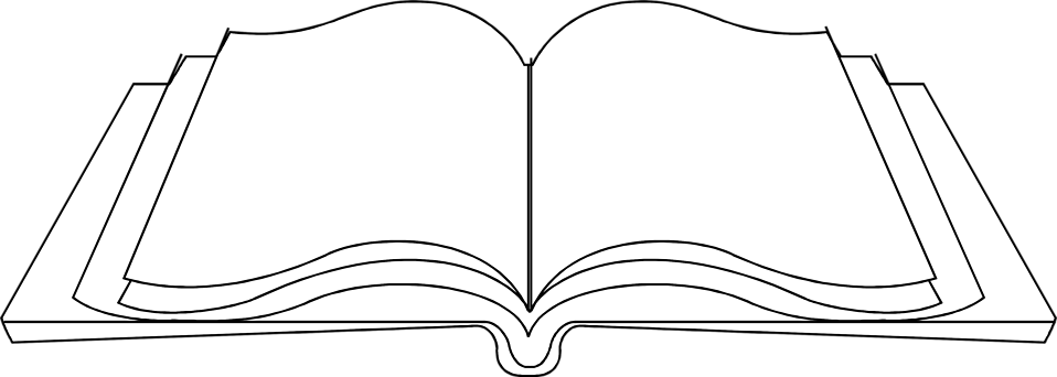 White book clipart jpg royalty free Black and white open book clipart no background - ClipartFest jpg royalty free