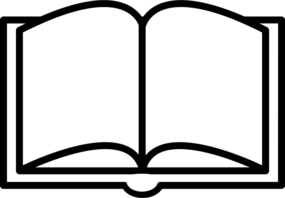 Open book outline clipart jpg library Book Opened Outline From Top View Svg Png Icon Free Download (#18895 ... jpg library