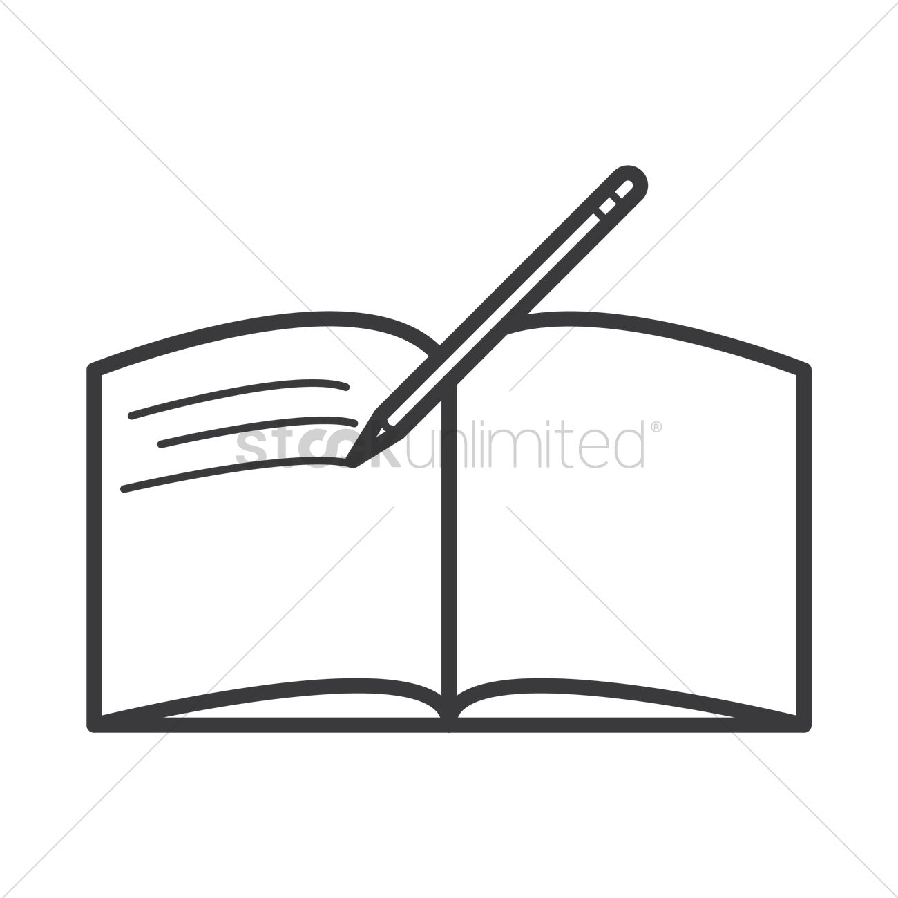Open books with pen clipart banner freeuse stock Open book with pen icon Vector Image - 1577797 | StockUnlimited banner freeuse stock