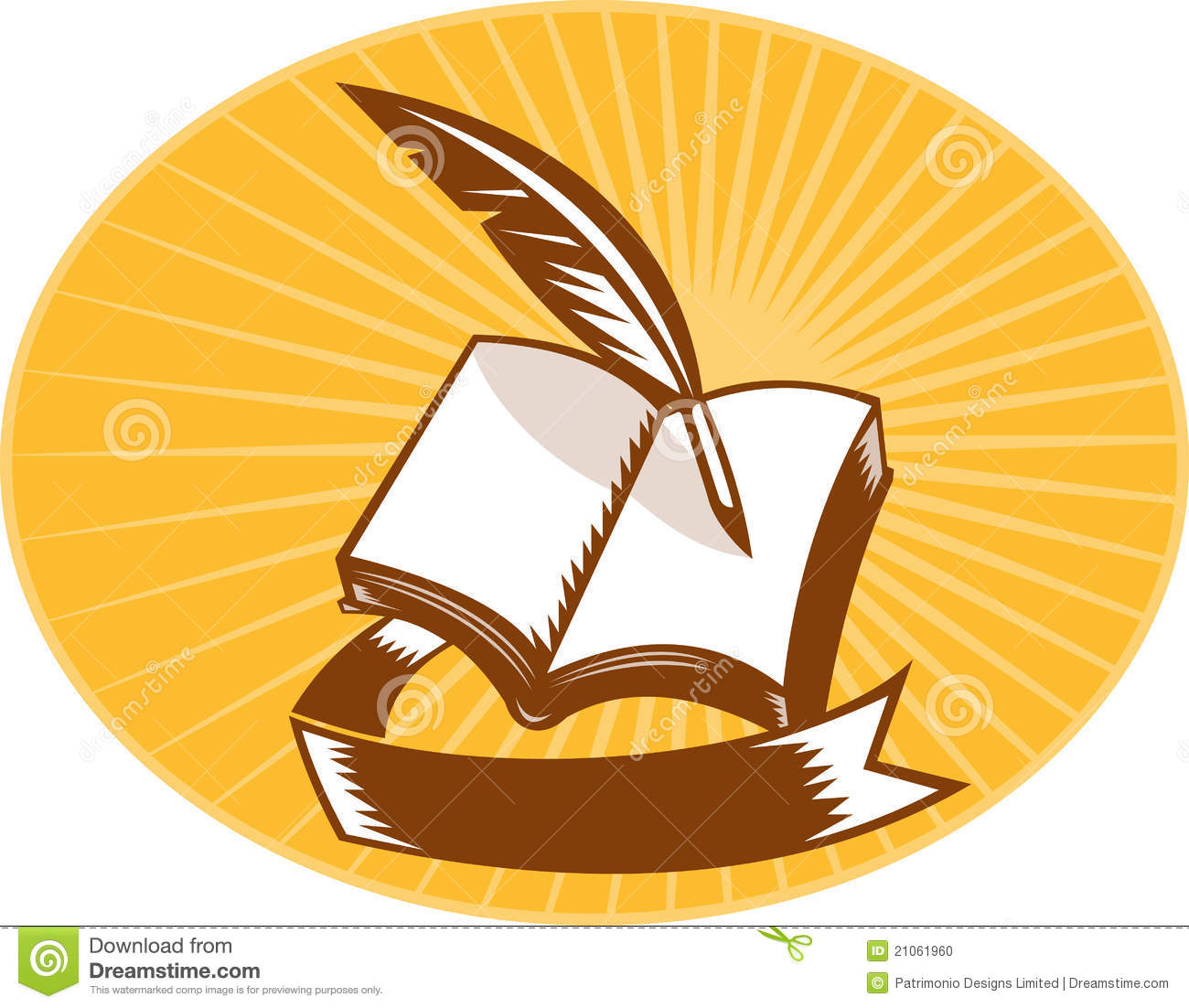 Open books with pen clipart library Open book and quill free clipart - ClipartFest library