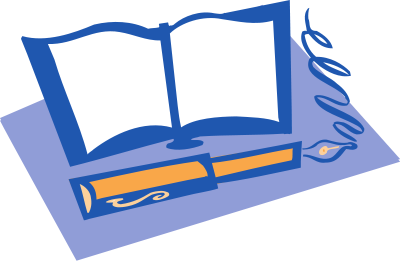 Open books with pen clipart png download Open books with pen clipart - ClipartFest png download