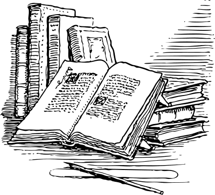 Open books with pen clipart graphic royalty free library Free Open Book Clipart - Public Domain Open Book clip art, images ... graphic royalty free library