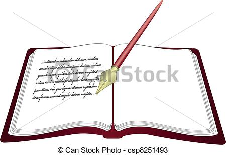 Open books with pen clipart vector stock Open books with pen clipart - ClipartFest vector stock