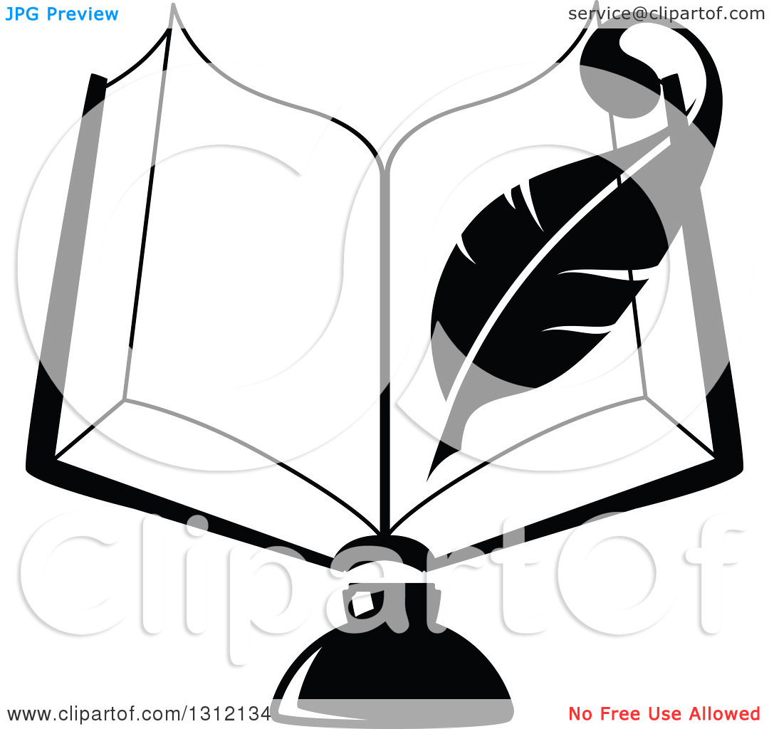 Open books with pen clipart jpg royalty free download Open book with pen clipart - ClipartFox jpg royalty free download
