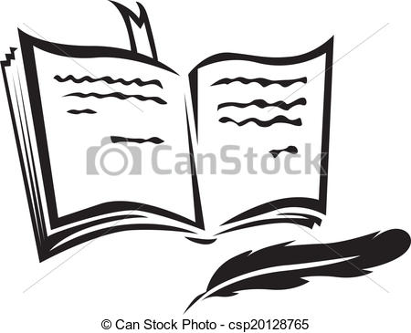Open books with pen clipart image black and white Books and pens clipart - ClipartFest image black and white