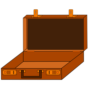 Open briefcase clipart png download Open briefcase in brown clipart, cliparts of Open briefcase ... png download