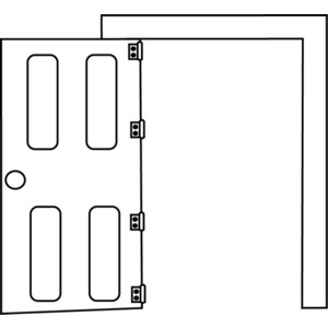 Open clipart black and white vector royalty free Free Black Door Cliparts, Download Free Clip Art, Free Clip ... vector royalty free