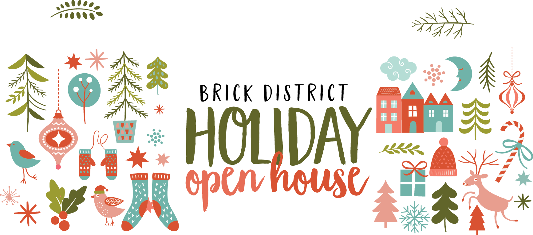 Open house free clipart clipart free download Holiday Open House clipart free download