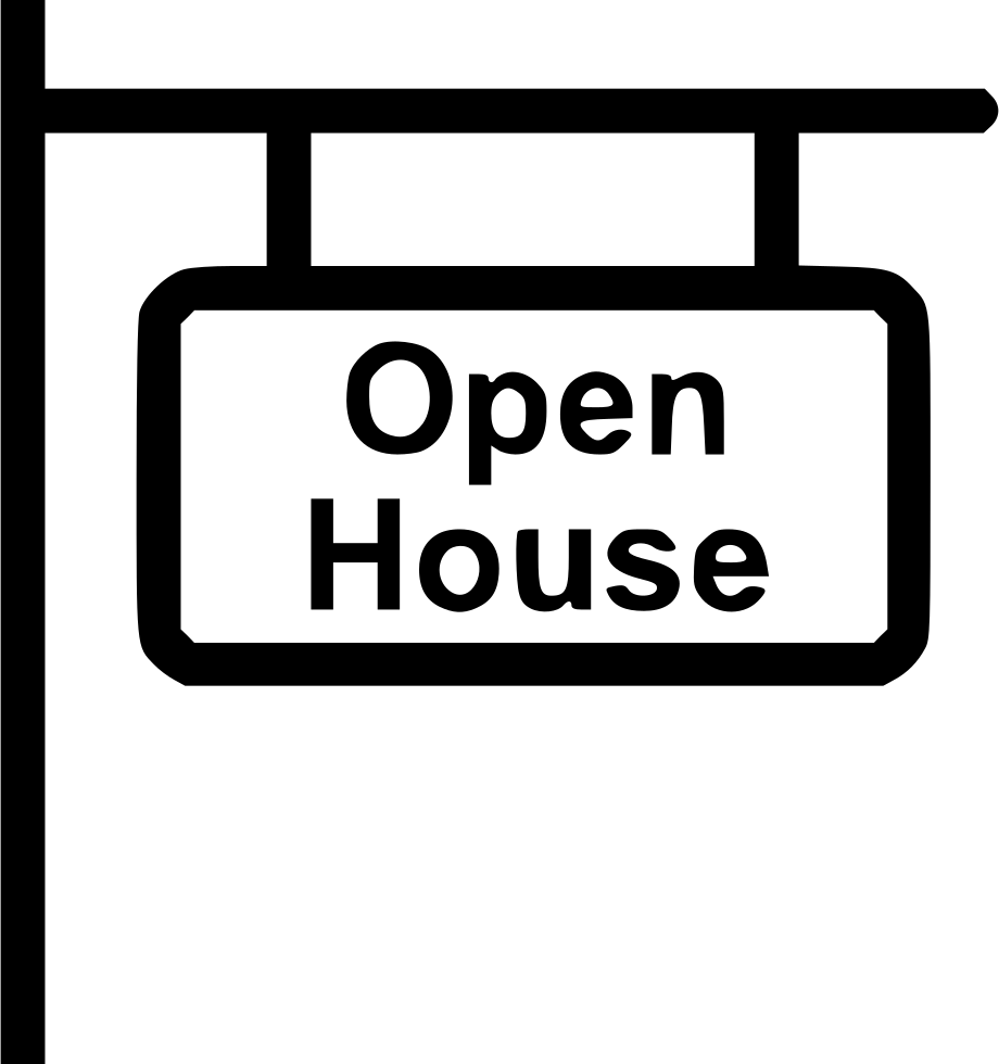 Open house free clipart clipart stock Open House Sign Svg Png Icon Free Download (#450234 ... clipart stock