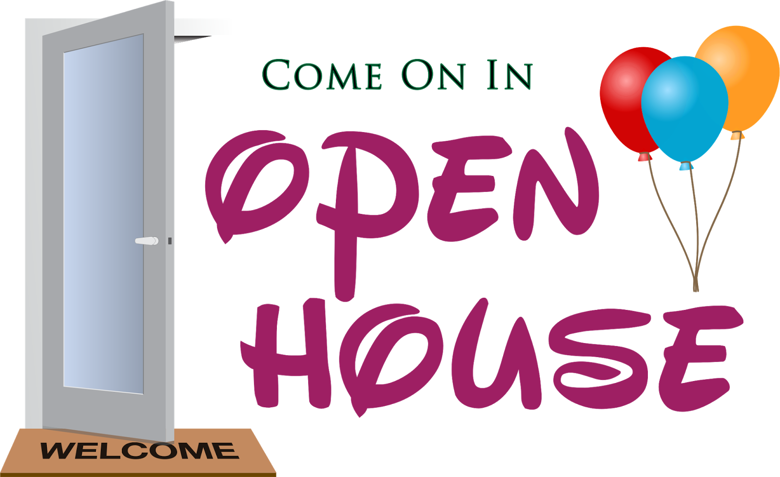 Open house school clipart image black and white I Teach Bay: Welcome To Open House 2015-2016! image black and white