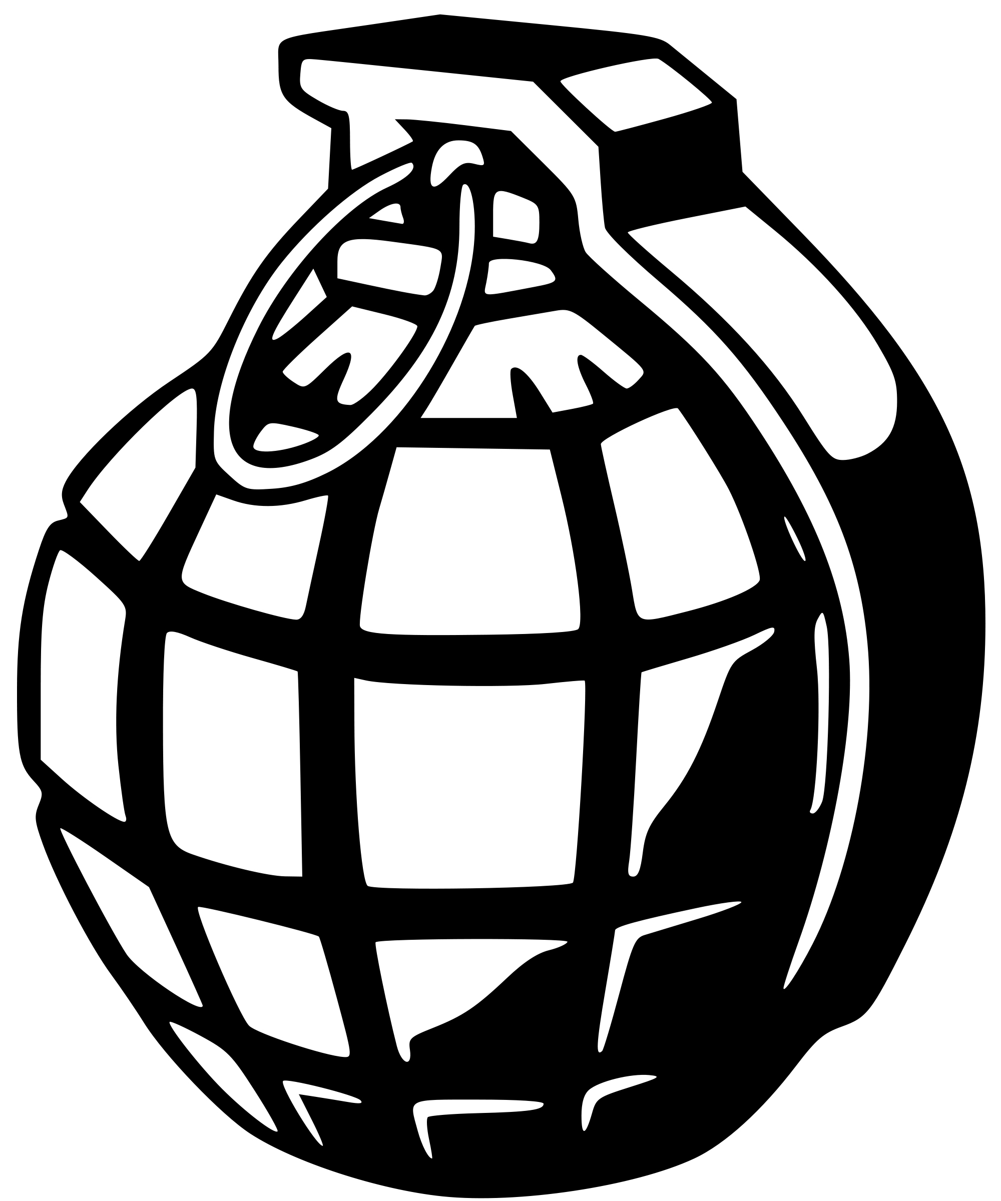 Pumpkin cut open clipart black and white clip stock File:Hand grenade.svg - Wikimedia Commons clip stock