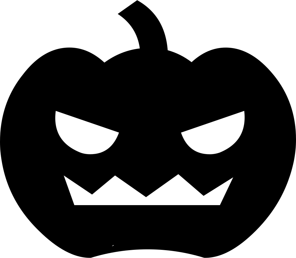 Scary clipart pumpkin clip art black and white library Scary Pumpkin Svg Png Icon Free Download (#30723) - OnlineWebFonts.COM clip art black and white library