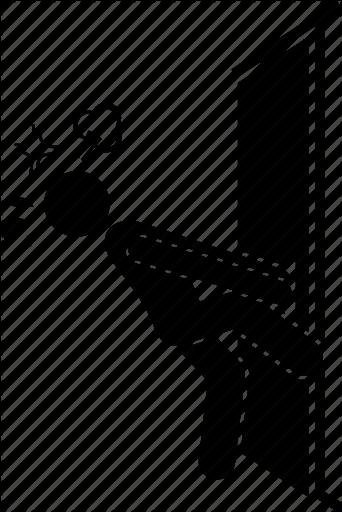 Open locked door clipart graphic free \'Man and Door\' by Gan Khoon Lay graphic free