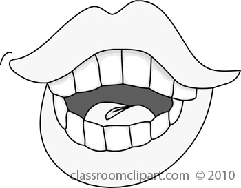 Open mouth eating clipart black and white clip black and white Talking mouth clipart image 7 - Cliparting.com clip black and white