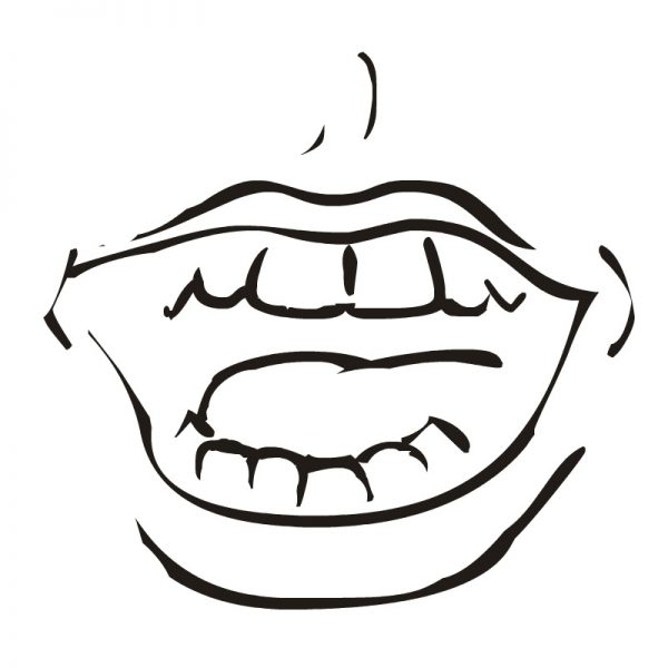 Open mouth face clipart black and white banner black and white Free Open Mouth Clipart, Download Free Clip Art, Free Clip ... banner black and white