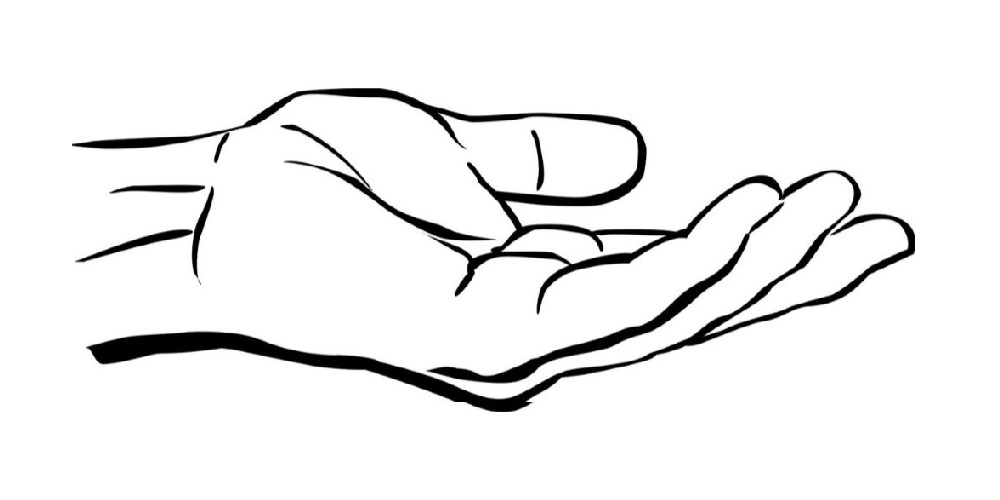 Open palms clipart graphic freeuse download Open Palm Hand Drawing | Free download best Open Palm Hand ... graphic freeuse download