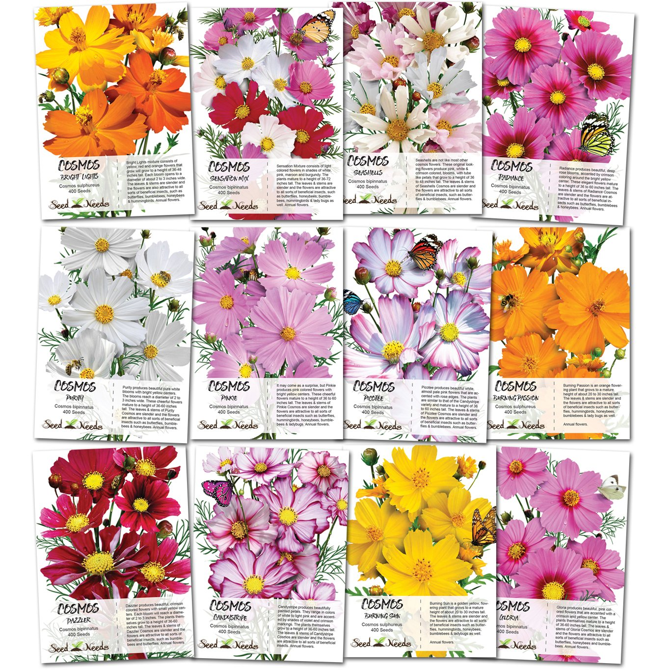 Open seed packets clipart vector free download Seed Needs Cosmos Wildflower Seed Packet Collection (12 Individual Packets)  Open Pollinated Seeds vector free download