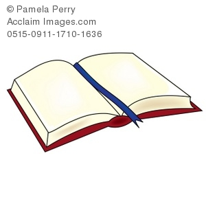 Open storybook clipart library Clip Art Illustration of a Book Laying Open - Acclaim Stock ... library