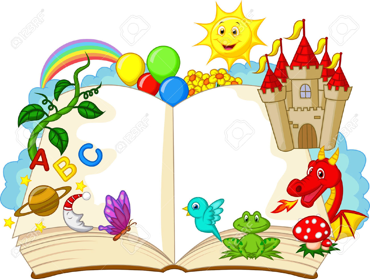Open storybook clipart image library library 29,466 Story Stock Illustrations, Cliparts And Royalty Free Story ... image library library