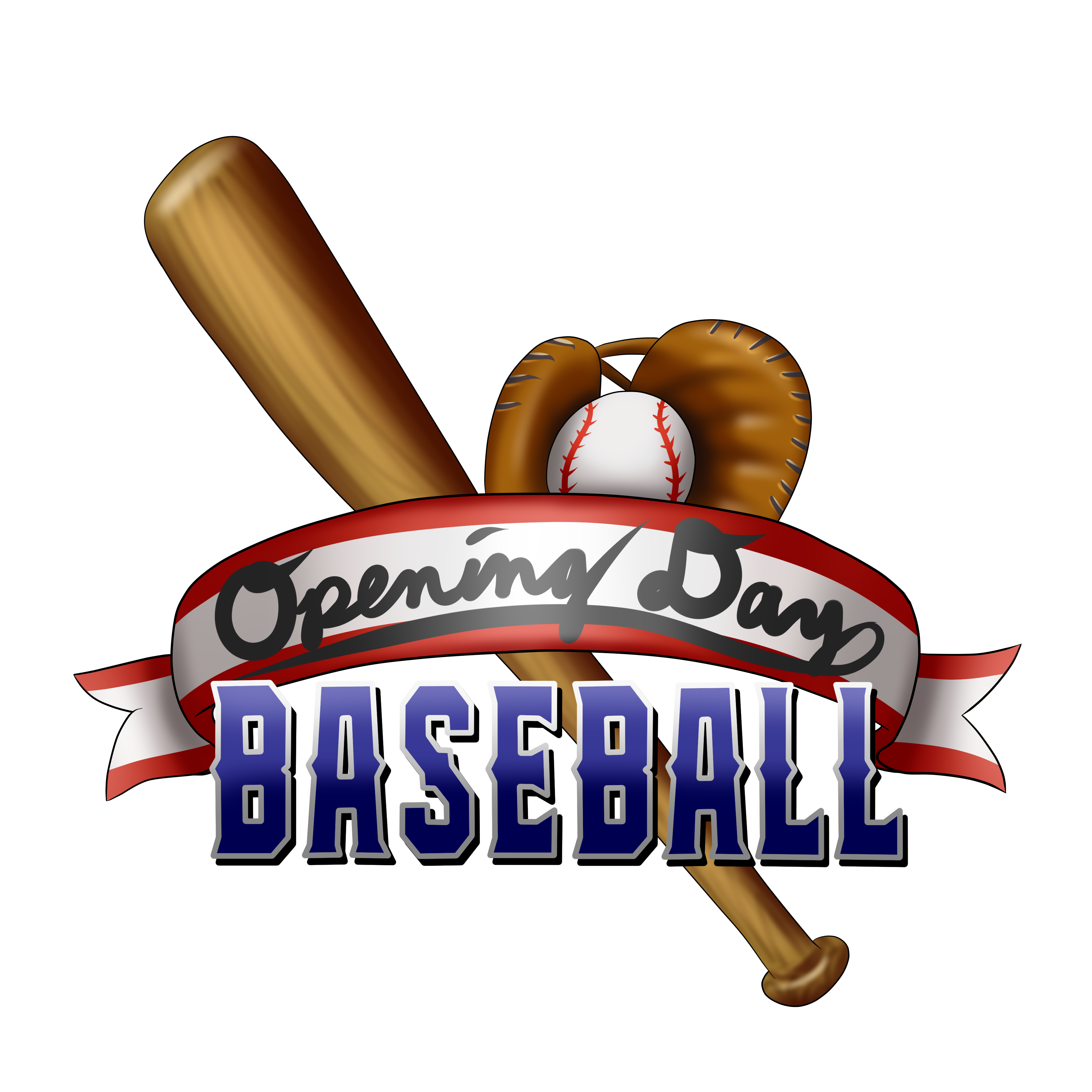 Opening day baseball clipart svg free stock Opening Day Baseball by D-Train1988 svg free stock