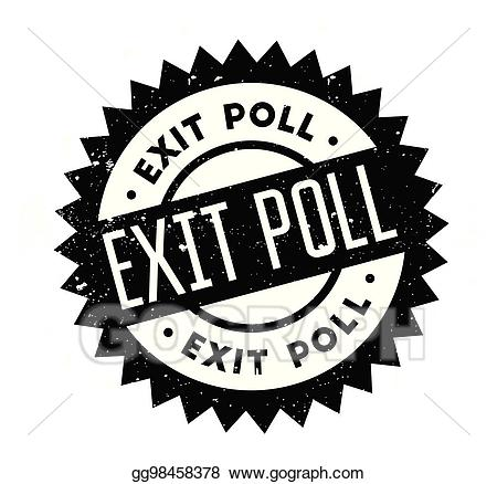 Opinion poll clipart image black and white stock Vector Illustration - Exit poll rubber stamp. Stock Clip Art ... image black and white stock