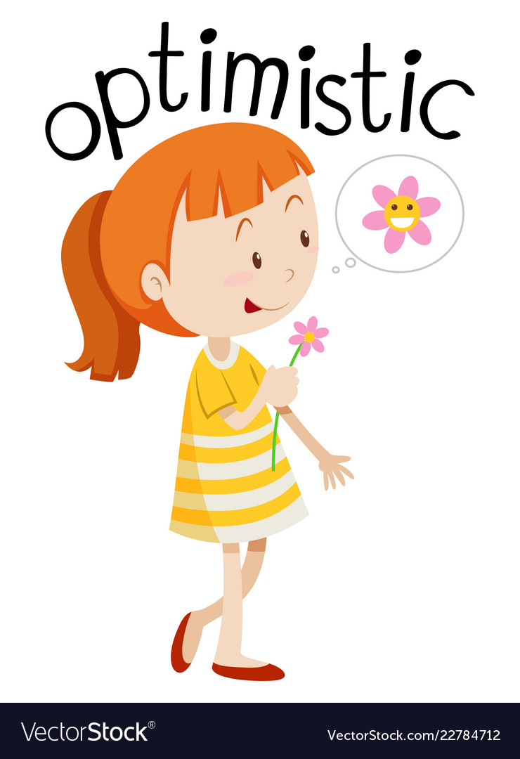 Optimistic clipart svg freeuse download Young optimistic girl white background svg freeuse download
