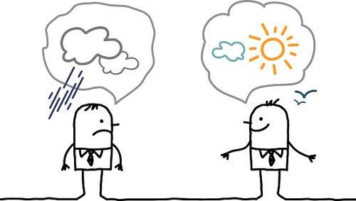 Optimistic clipart svg free download Cartoon Businessmen Optimistic and Pessimistic premium clipart ... svg free download