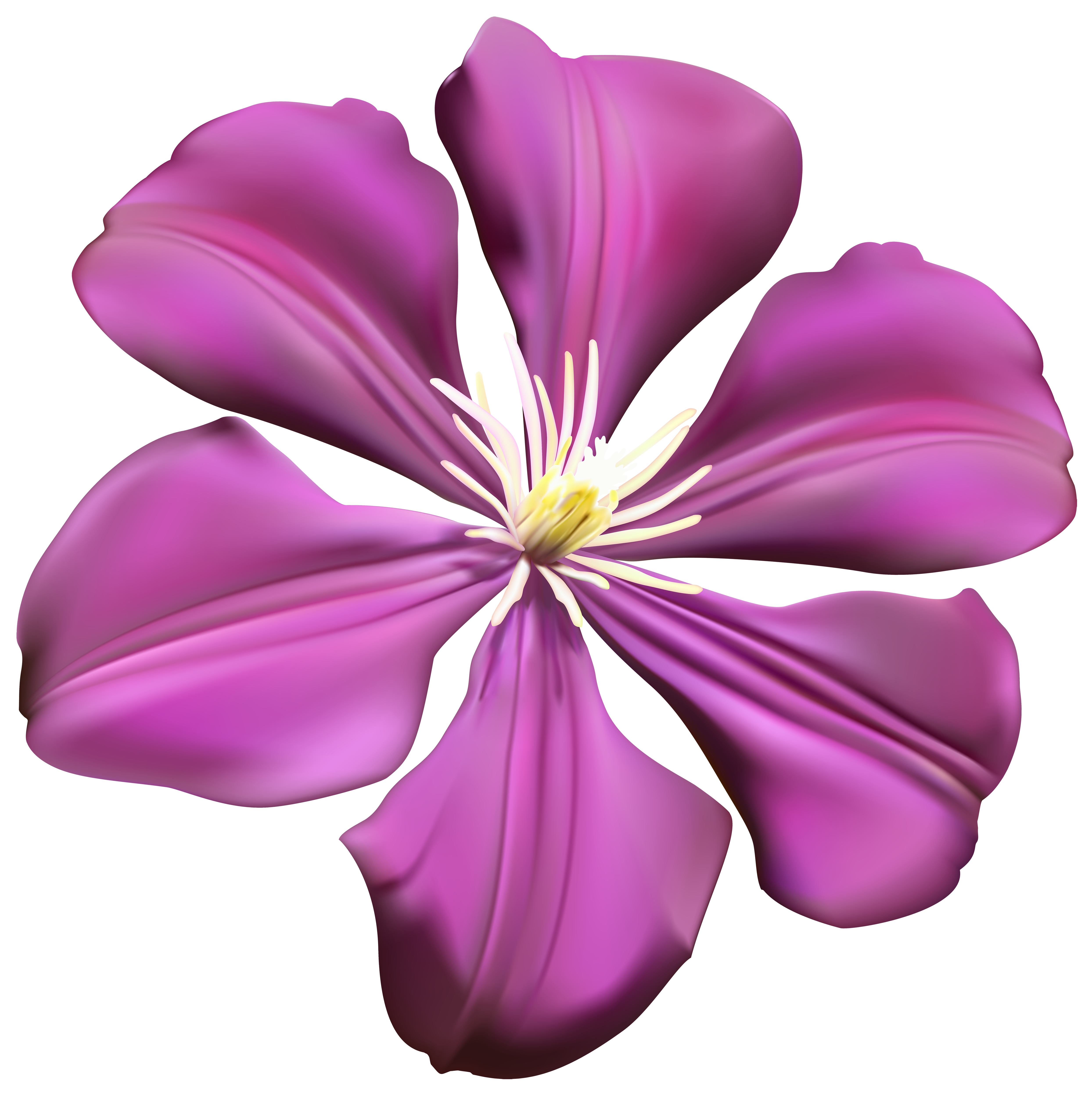 Purple flower images clipart png free stock Purple Flower Transparent PNG Clip Art Image | Gallery Yopriceville ... png free stock