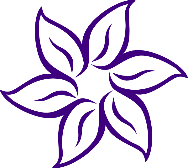 Orange and purple flower clipart png black and white Purple Flower Border Clip Art | Clipart Panda - Free Clipart Images png black and white