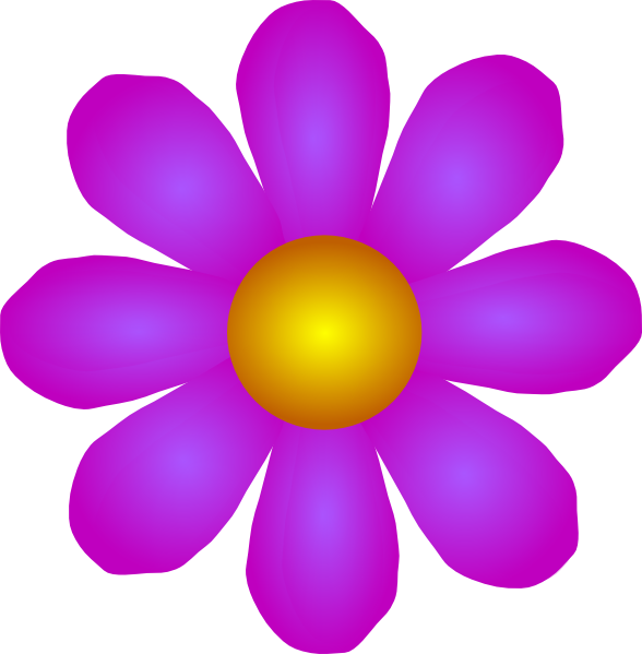 Orange and purple flower clipart jpg transparent download Fuchia And Orange Flower Clip Art at Clker.com - vector clip art ... jpg transparent download