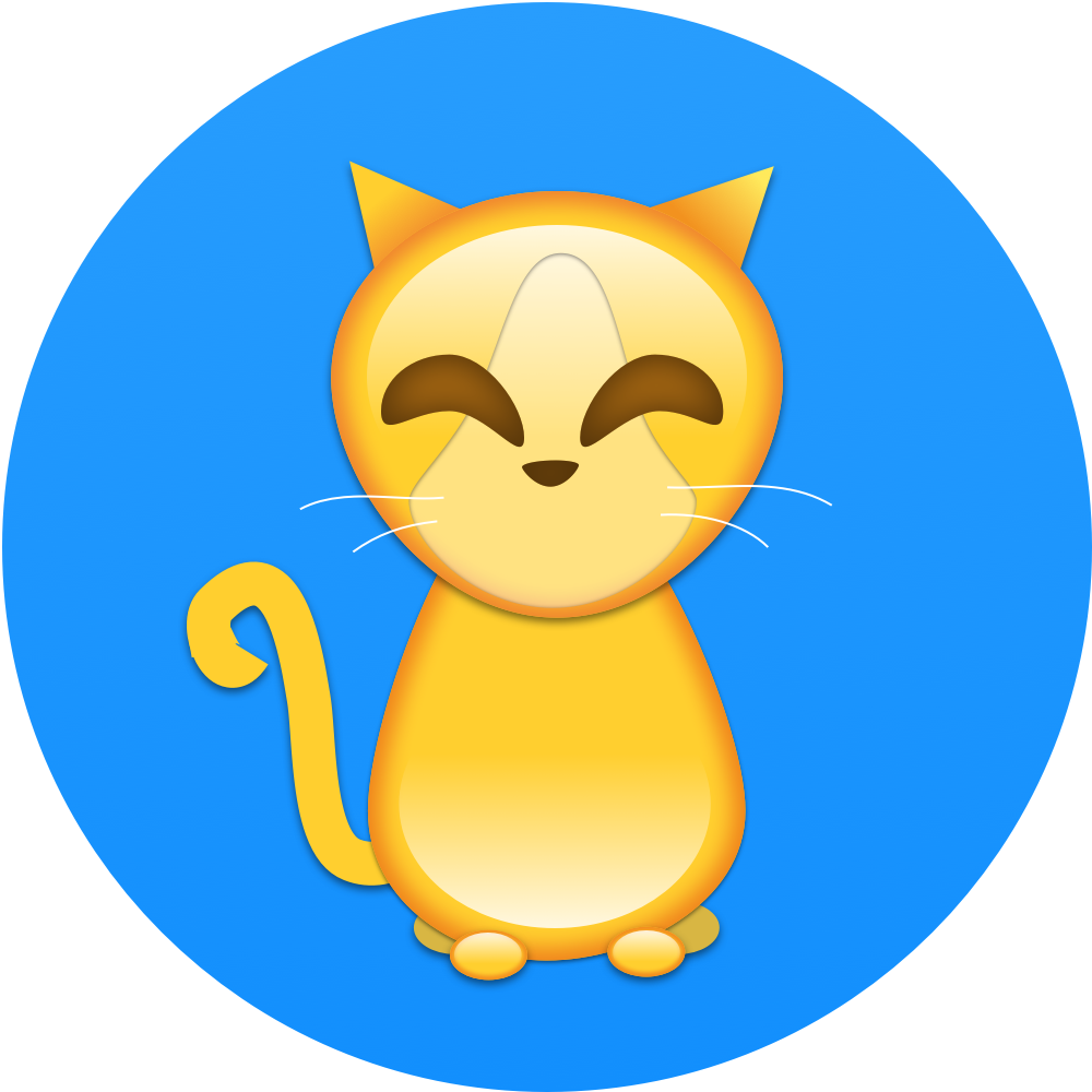 Orange and yellow cat clipart graphic download Cats by Contrast Security graphic download