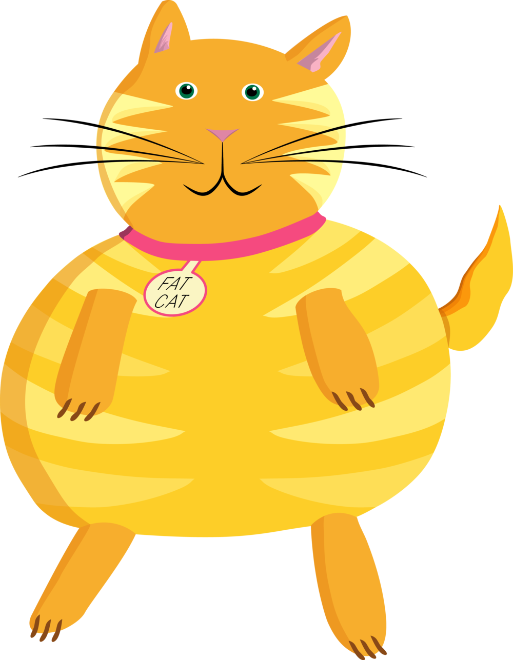 Orange and yellow cat clipart image transparent download Fat Cat Productions image transparent download