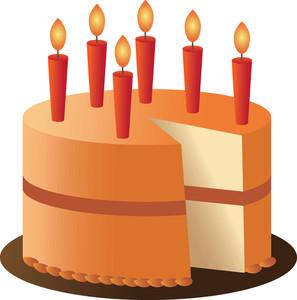 Orange birthday cake clipart graphic black and white download Orange birthday cake clipart - ClipartFest graphic black and white download