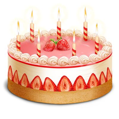 Orange birthday cake clipart png library library images of birthday cakes with candles | Birthday Cake Clip Art ... png library library