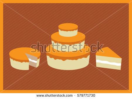 Orange birthday cake clipart svg freeuse Orange Birthday Cake Stock Images, Royalty-Free Images & Vectors ... svg freeuse