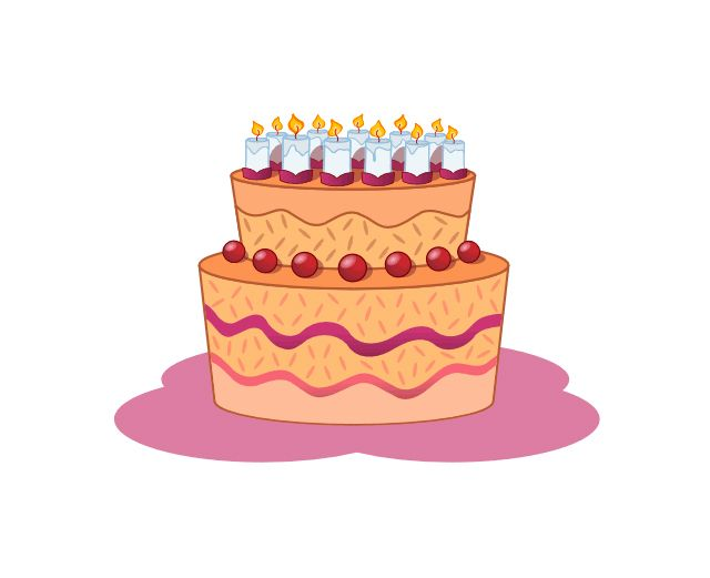 Orange birthday cake clipart image library download 7 Places to Find Free Birthday Clip Art image library download