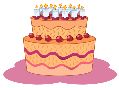 Orange birthday cake clipart clipart royalty free download Orange birthday cake clipart - ClipartFest clipart royalty free download