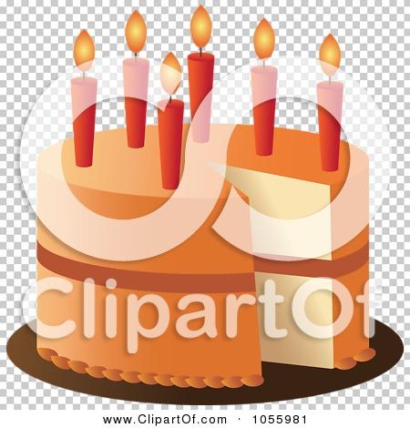 Orange birthday cake clipart jpg transparent library Royalty-Free Vector Clip Art Illustration of an Orange Birthday ... jpg transparent library