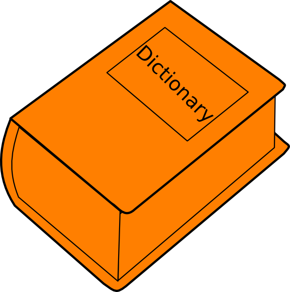 Orange book clipart image royalty free Dictionary Clip Art at Clker.com - vector clip art online, royalty ... image royalty free