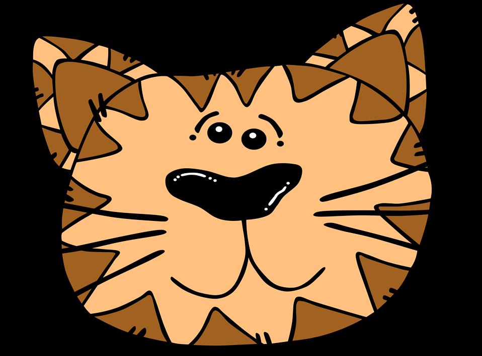 Orange cat face clipart clip freeuse stock Cat   Free Stock Photo   Illustration of a cartoon cat face   # 10704 clip freeuse stock