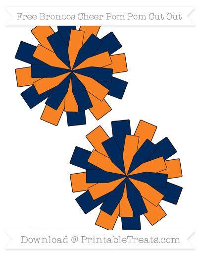Orange cheer pom clipart png transparent stock Free Medium Broncos Cheer Pom Pom Cut Out | Denver Broncos ... png transparent stock