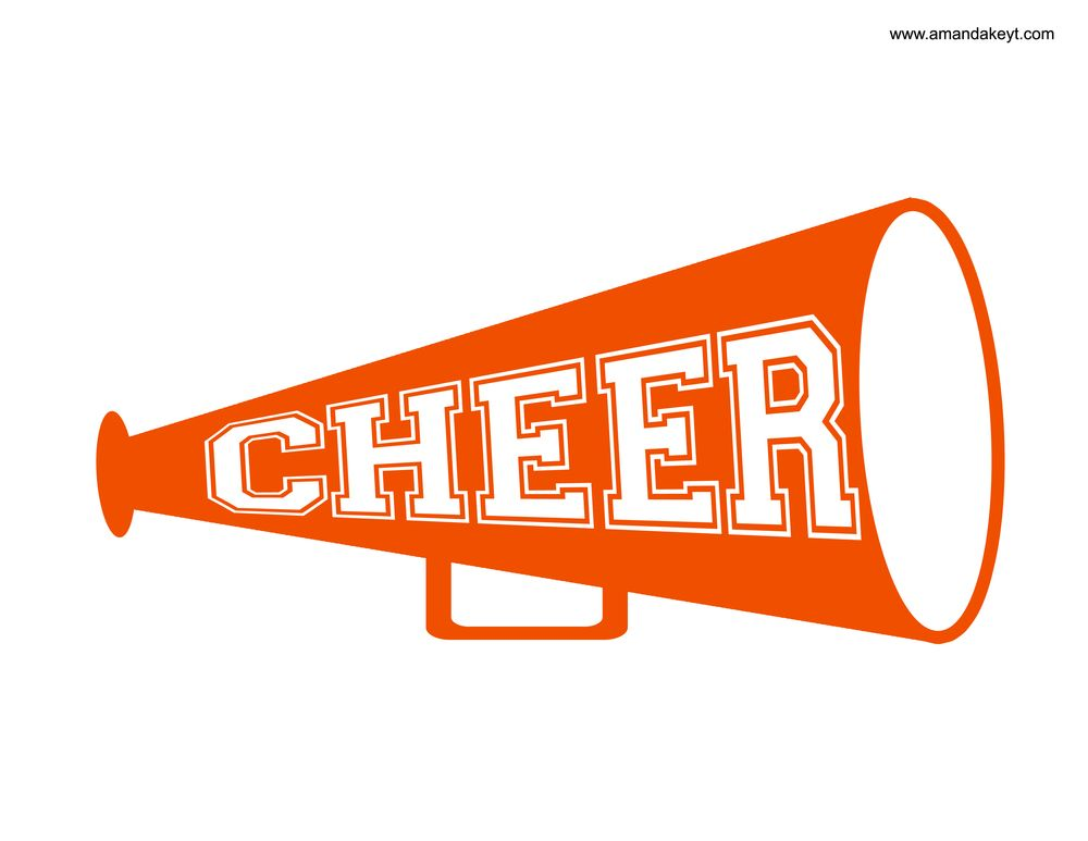 Orange cheer pom clipart clip library library Megaphone from Cheerleader Orange Blue Printable Photo Booth Prop ... clip library library