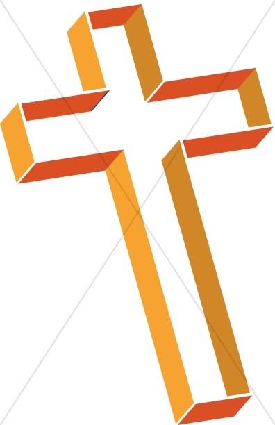 Orange crosses clipart banner freeuse library Multilevel Cross in Shades of Orange   Cross Clipart banner freeuse library