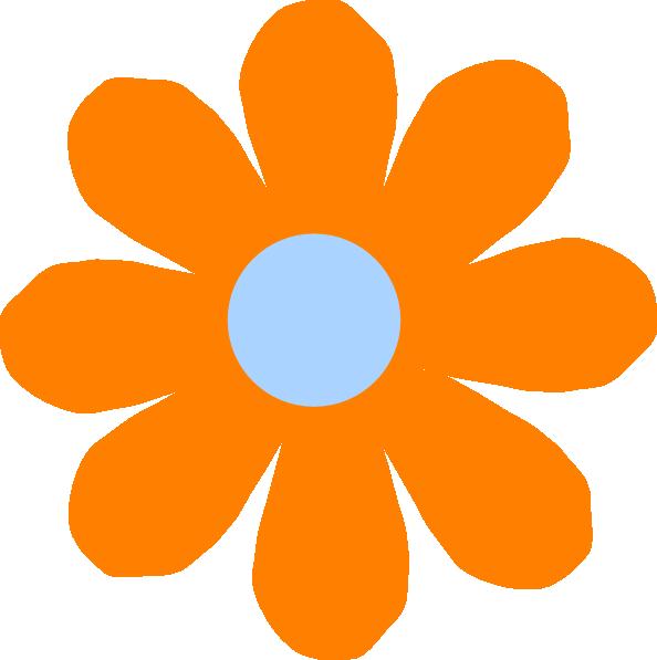 Orange flower clipart png Orange Flower Clip Art at Clker.com - vector clip art online ... png