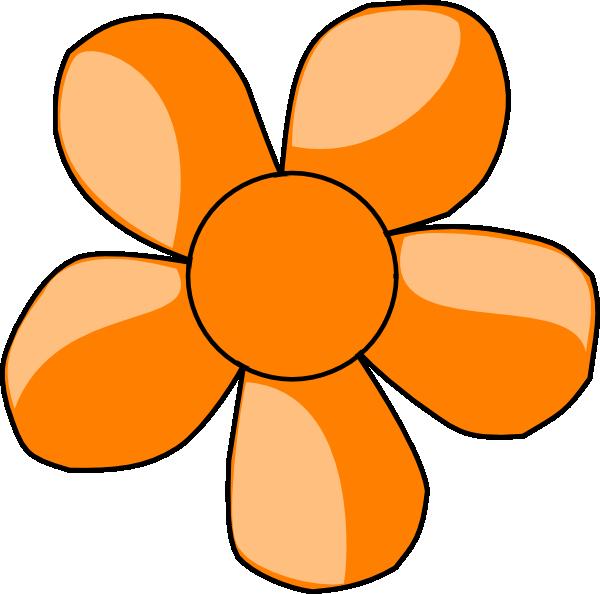 Orange flower clipart png royalty free Orange Flower Clip Art at Clker.com - vector clip art online ... png royalty free