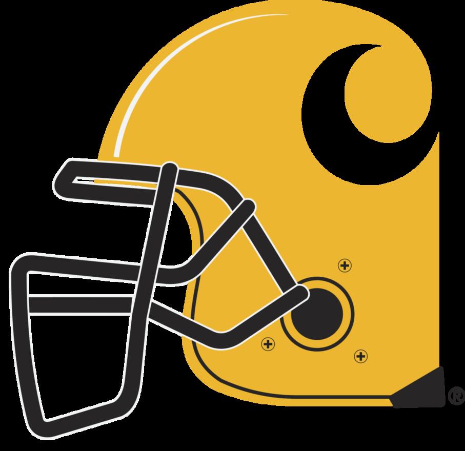Orange football helmet clipart banner freeuse download Carhartt Football Helmet-final by tmcpherren on DeviantArt banner freeuse download