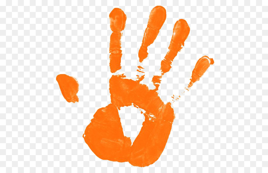 Orange handprint clipart